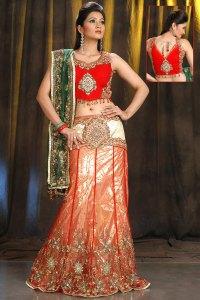 Latest Heavily Embroidered Wedding Lehenga Choli 2010