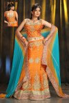 Latest Wedding and Festival Lehenga Choli in Orange Color