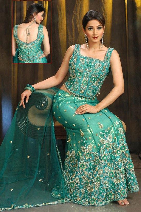 Latest A Cut Lehenga Choli in Turquoise Color