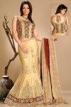 Latest Mermaid Style Lehenga Choli in Wheat Brown Color