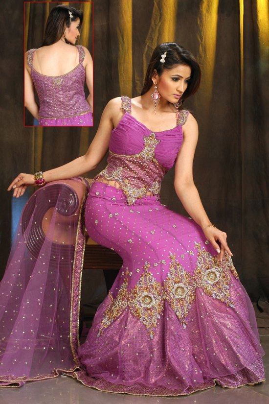 Latest Lehenga Choli in Rose Pink Color for Wedding and Party