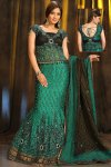 Fishtail Lehenga Choli in Persian Green with Heavy Embroidery Work