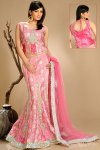 Newly Arrived Fishtail Lehnga Choli in Bright Pink Color