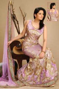 Latest Designer Lehenga Choli Collection 2010 in Puce Red Color