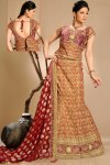Latest Carnelian Red Wedding Lehenga Choli