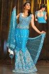 Latest Blue Lehenga Choli with Designer Blouse Piece