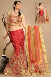 Newly Arrived Mermaid Style Lehenga Choli with Net Dupatta