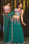 Gorgeous Lengha Choli in Teal Green Color