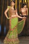 Fresh Lehenga Choli Design in yellow and Green Color