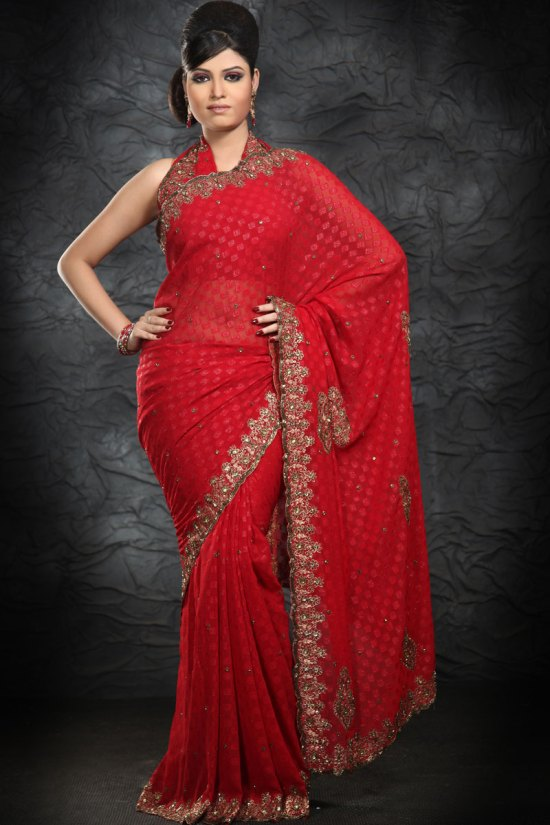 Exclusive Designer Embroidered Party Saree