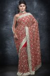 Heavily Embroidered Wedding Wear Saree 2010