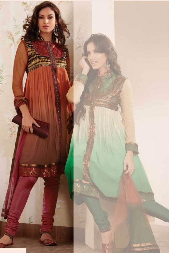 Stunning Anarkali Salwar Kameez in Red Color