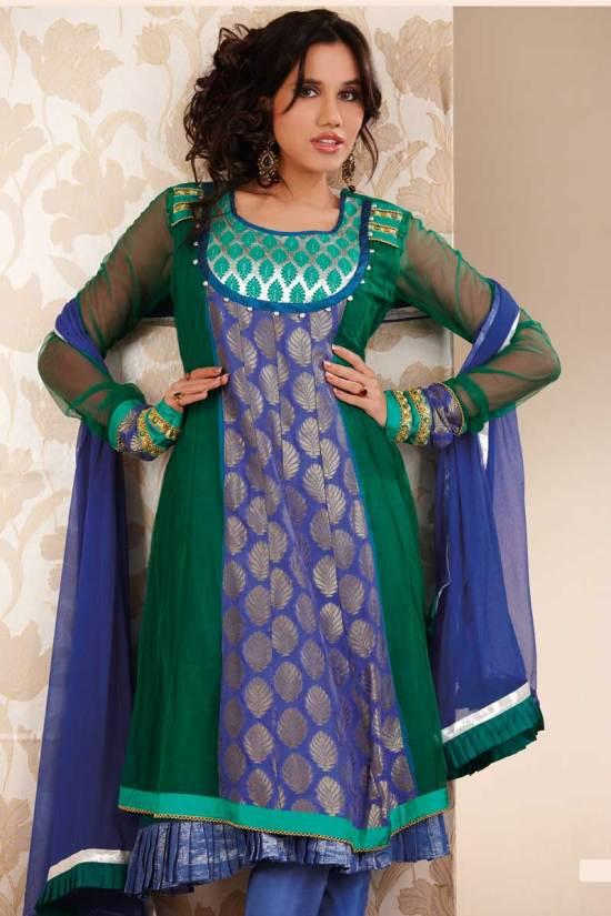 Newly Arrived Blue Anarkali Salwar Kameez for Party Wear