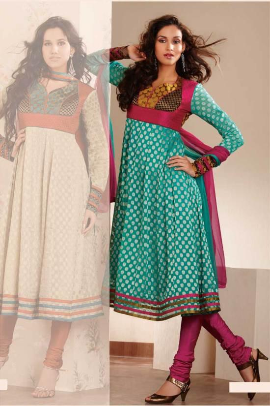 Wedding Anarkali Style Salwar Kameez Designs 2010