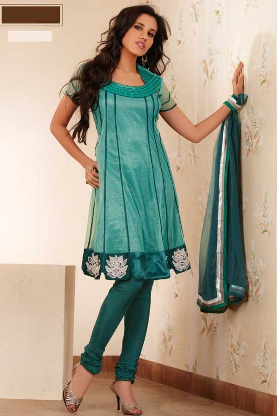 Net Anarkali Churidar Salwar Kameez Designs 2010