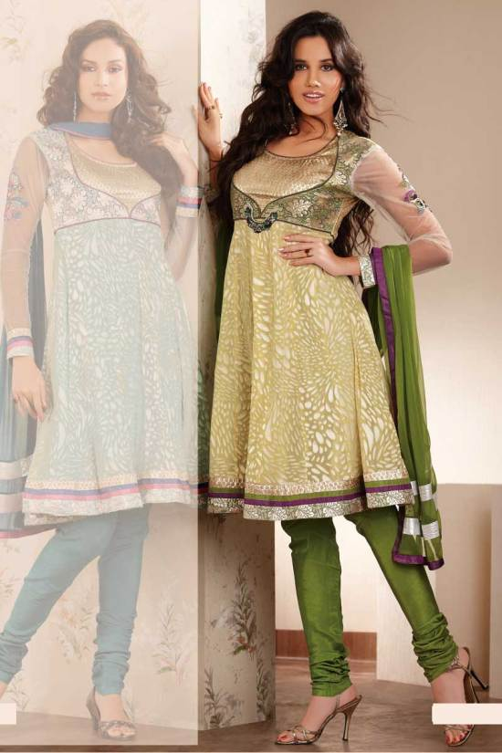 Latest Fashions in Anarkali Salwar Kameez Designs 2010