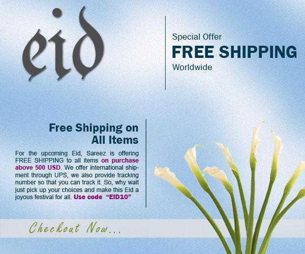 Eid Special Free Shipping on Sarees, Salwar Kameez and Lehenga Choli