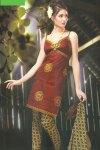 Sleeveless Cheap Chudidar Salwar Kameez 2010 in Cotton Fabric