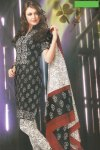 Cheap Cotton Black and White Chudidar Salwar Kameez 2010