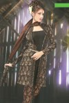 Black Cotton Casual Churidar Salwar Kameez Collection 2010