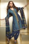 Violet and Blue Diwali Salwar Kameez with Matching Dupatta