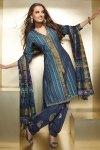 Violet and Blue Diwali Salwar Kameez with Matching Dupatta