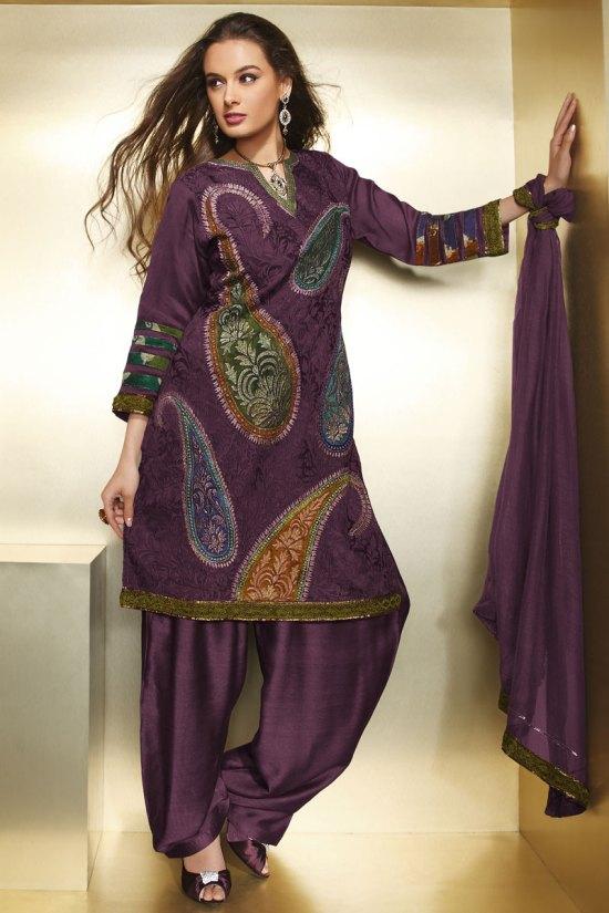 Floral Embroidered Diwali Heavy Shalwar Kameez 2010