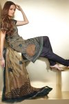 Brown and Gray Salwar With Black Chudidar for Diwali 2010