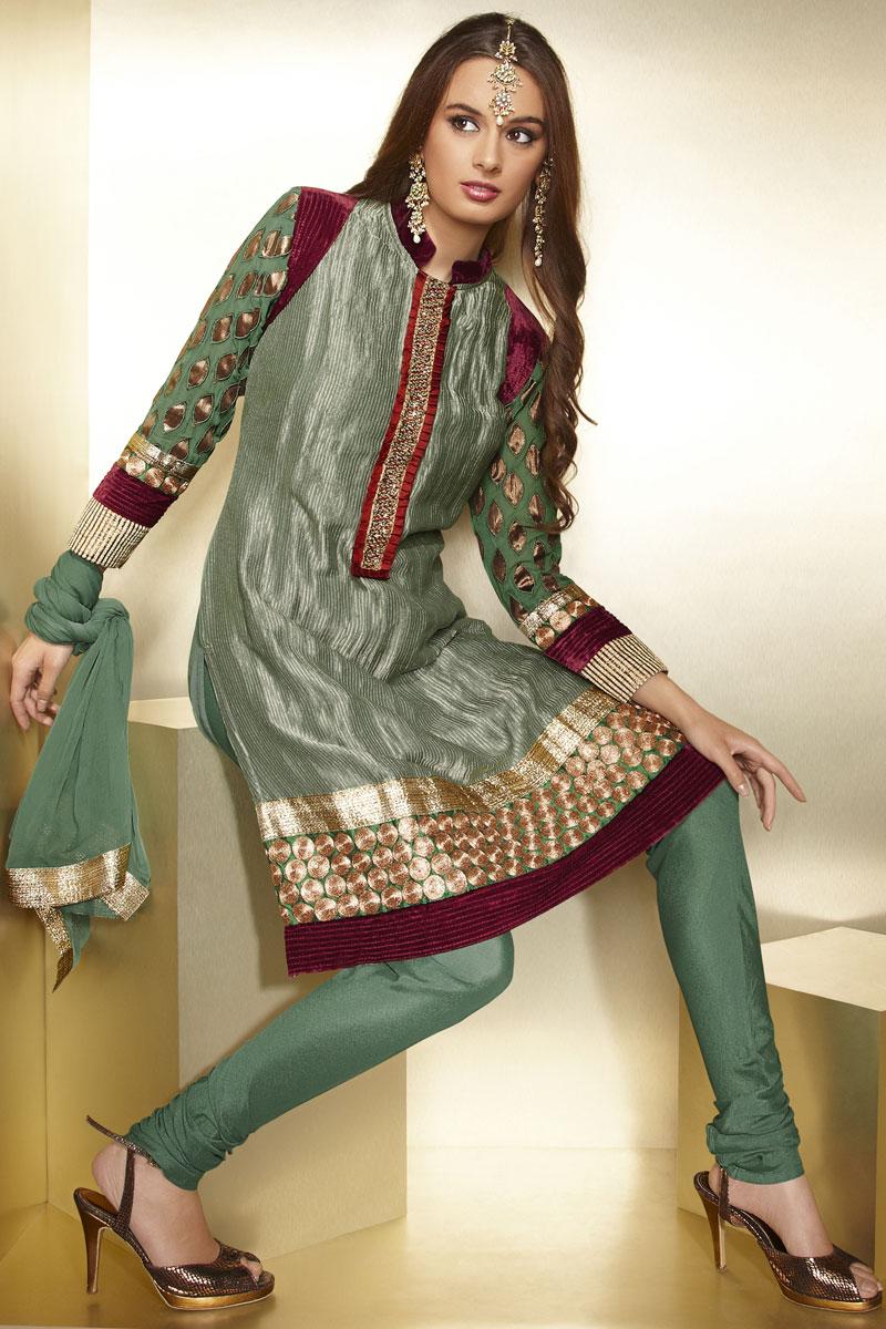 Pakistani High Neck Designs Picture Fashion Dresses