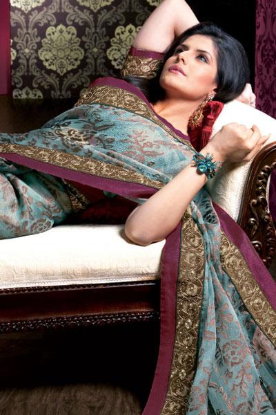 Light Blue Net Designer Saree with Gorgeous Saree Blouse
