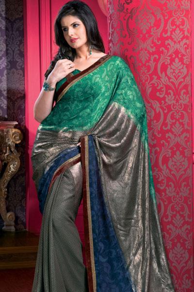 45sa1407 m saree - Indian Designer Party Wear Sarees
