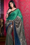 Stunning Georgette Designer Saree with Matching Blouse Piece
