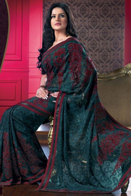 Gorgeous Designer Saree 2010 with matching Saree Blouse 2010