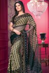 Georgette and Net Designer Saree with Matching Saree Blouse