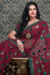 Designer Party Saree with Embroidered Saree Blouse Designs 2010