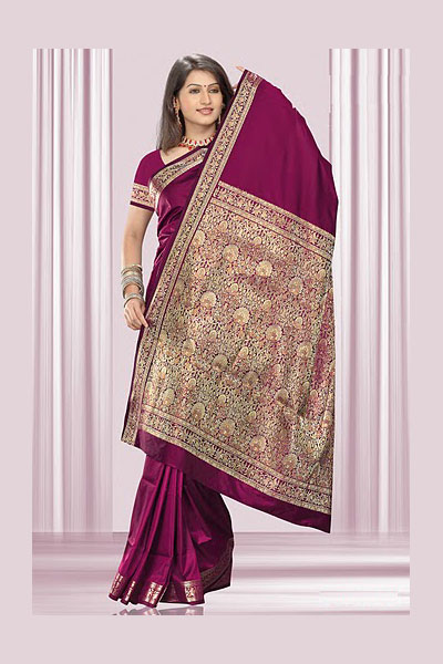Latest Art Silk Saree in Maroon Color For Wedding Wear