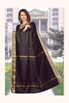 Gorgeous Black Embroidered Art Silk Saree for Festival Wear