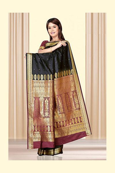 86sa73 m saree - Indian Art Silk Sarees