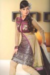 Latest Unstitched Chocolate Brown Chudidar Shalwar Kameez