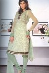 Churidar Salwar Kameez Semi Stitched in Moss Green Color