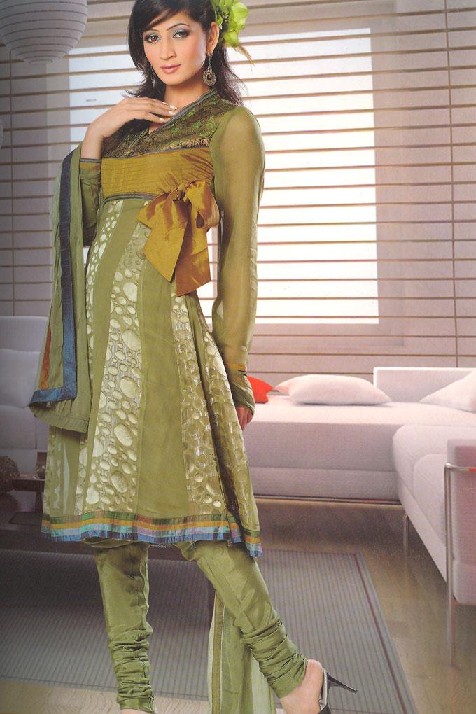 Latest Semi Stitched Churidar Salwar Kameez 2010
