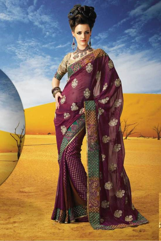 Full Sleeves Diwali Sarees Collection 2010
