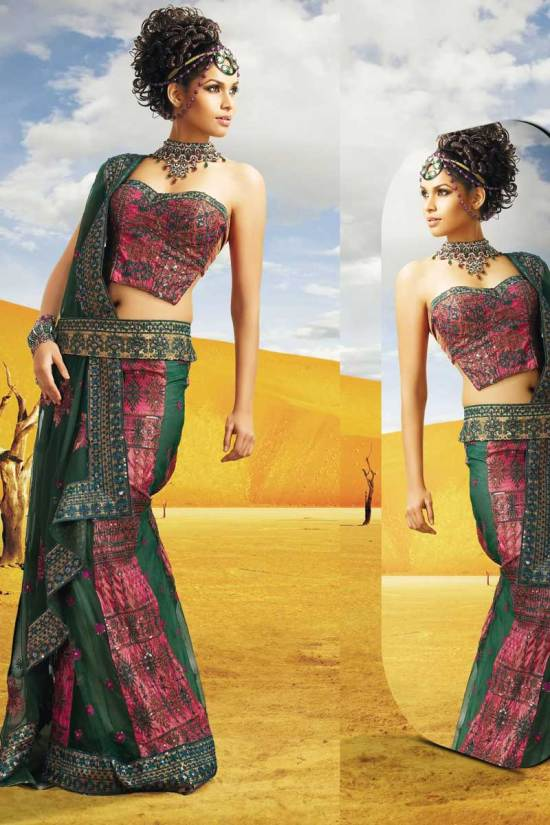 Fancy Bollywood Diwali Saree with Equal Stunning Saree Blouse