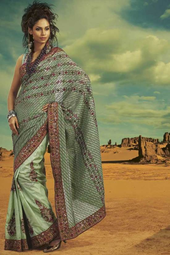 Faux Georgette party Wear Dewali Saree Collection 2010