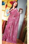Latest Hot Pink Diwali Sarees Fashions 2010