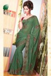Latest Faux Georgette Party Wear Saree For Diwali 2010