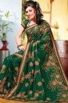 Shimmer Georgette Diwali Sarees 2010