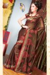 Brown Shimmer Georgette Diwali Sarees Collection 2010