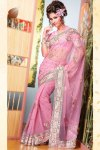 Stunning Diwali Sarees 2010 In Hot Pink Color