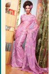Latest Diwali Sarees Collection 2010 in Lavender Pink Color